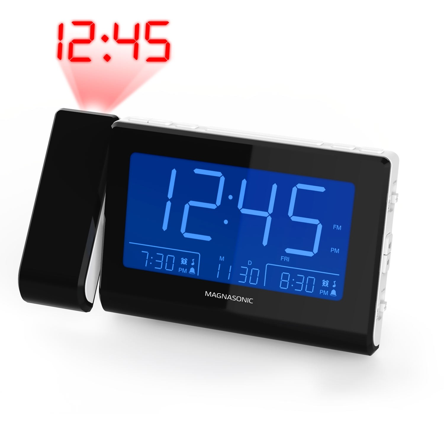 Alarm Clock Radio with USB Charging & Projection - Main