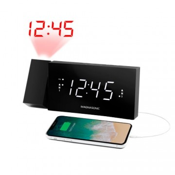 Alarm Clock Radio with USB Charging for Smartphones & Tablets