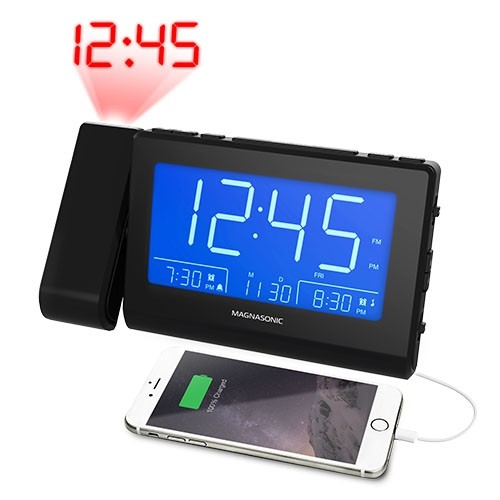 Bluetooth Speaker Alarm Clock Radio - Black