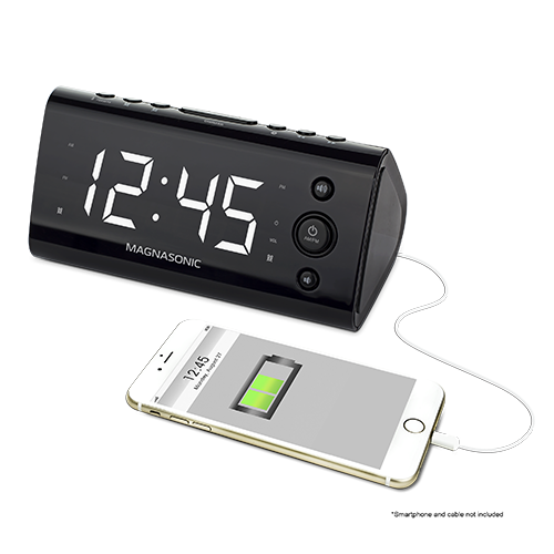 USB Charging Alarm Clock Radio
