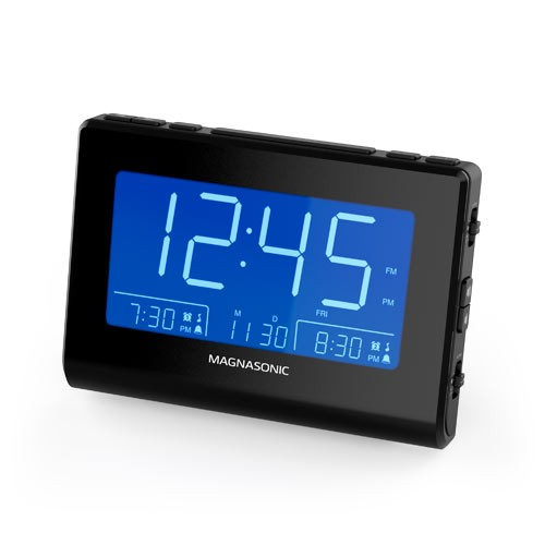 Alarm Clock Radio with Dual Gradual Wake Alarm - Black