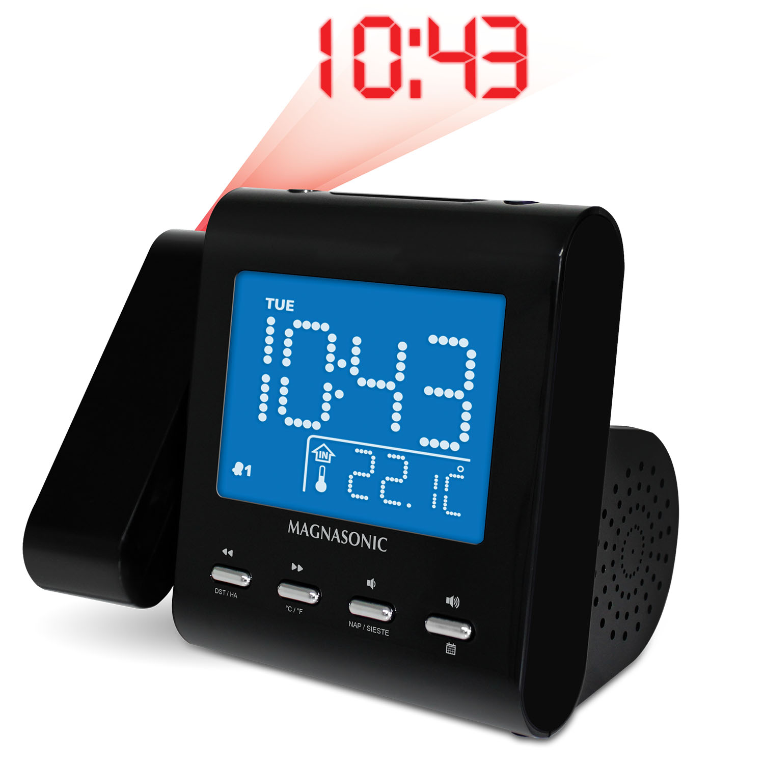 SelfSet AM/FM Projection Clock Radio