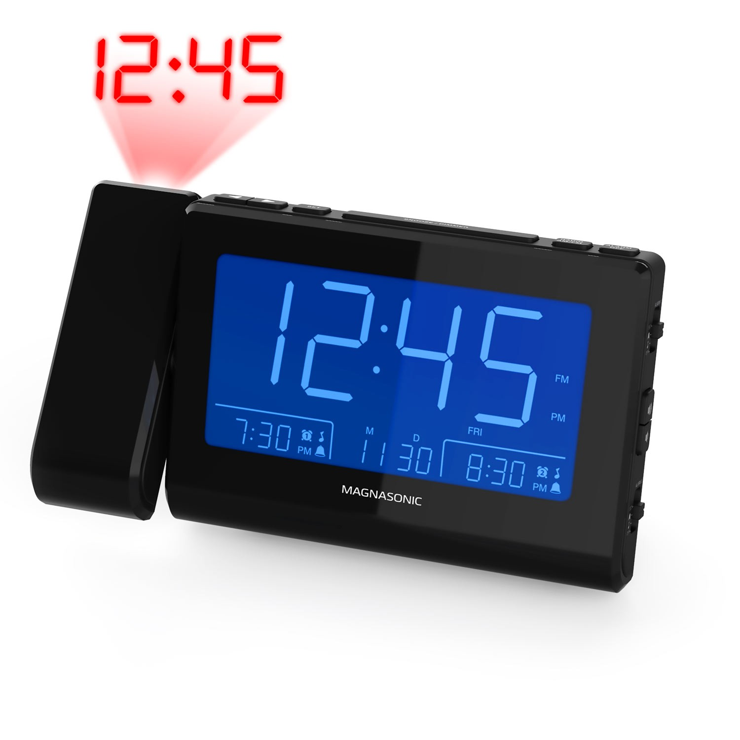 Alarm Clock Radio with Time Projection