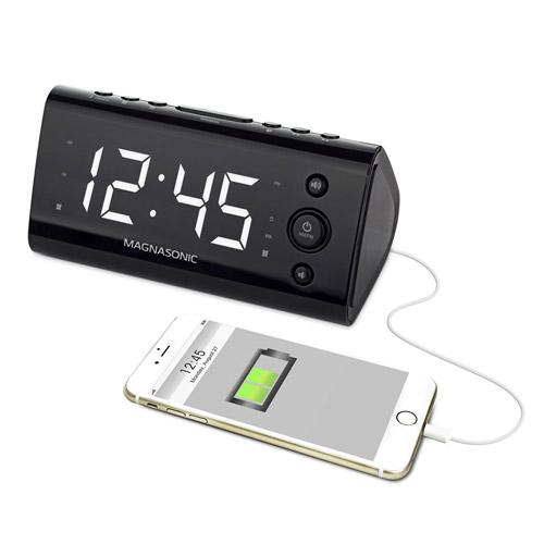 <span USB Charging Alarm Clock Radio